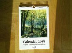Watercolor landscapes 2018 wall calendar art