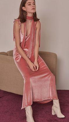 Lowell Velvet Dress