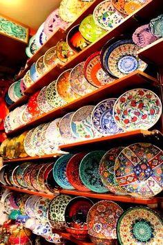 Grand Bazaar, İstanbul - Turkish Ceramic Plates