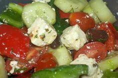 Greek salad with dill