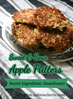 Living Free | Sweet & Sour Apple Fritters (GF, DF, & SF)
