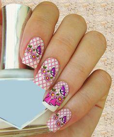 uñas decoradas con flores-Kit 30 Casadinhos Flores-1 - uñas decoradas con adhesivos para uñas, Imágenes