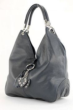 modamoda de - ital. Tasche Handtasche Leder & Nappaleder Damentasche Schultertasche 330, Präzise Farbe:Dunkelblau Nappaleder - http://herrentaschenkaufen.de/modamoda-de-made-in-italy/dunkelblau-nappaleder-modamoda-de-ital-tasche
