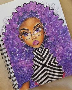 Purple Goddess Hope everyone's been doing well today! Also what other YouTube videos would you guys like to see other than art videos for the future? #art #illustration #artist #inspiration #illustration #draw #drawing #drawings #purple #curly #hair #anime #disney #fashion #blackbeauty #blackisbeautiful #love #cute #instaart #instartist #sketch #color #colorful #instahub #instagood #Godisgoodallthetime8