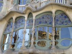 valscrapbook:    Casa Battlo from Gaudi, Barcelona, Spain, Copyrights Val Moliere