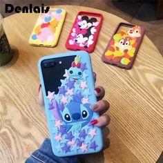 Brand New Cartoon Case Mickey Minnie Stitch Bear Cute Capa Rubber Soft Silicone Phone Bumper Case For iPhone 7 7Plus 6 6S 6Plus #Affiliate