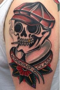 traditional skull tattoos