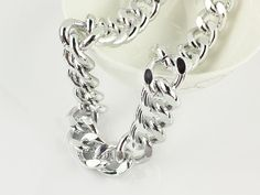 23x19mm Silver Anodized Aluminum Chunky Chain by addingfinds, $8.59