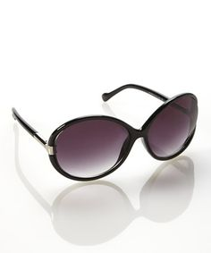 Another great find on #zulily! Black Circle Sunglasses by Jessica Simpson Collection #zulilyfinds