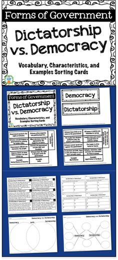 an introduction to the comparison of democracy and a dictatorship Free essay: question: does democracy produce worse government than dictatorship produces introduction for the sake of ruling a country, we demand a system.