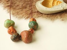 Collier fantaisie style ethnique  organic necklace  collier