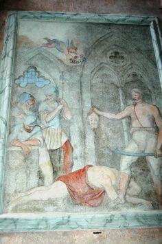 Riva Ligure (IM),  Oratorio di San Giovanni Battista, affresco