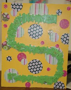 Decorate Your Room: All About Monograms!  using mixed media.