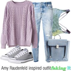 Amy Raudenfeld inspired outfit/Faking It by tvdsarahmichele on Polyvore featuring Dsquared2, Onzie, Converse and 3.1 Phillip Lim