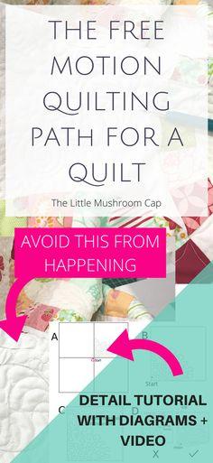 FMQ on a domestic machine: Avoiding Folds and Pleats - The Little Mushroom Cap