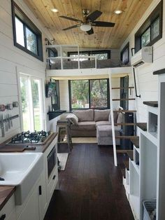 Two Waterfront Tiny Homes on Lake Travis Vacation Tiny House Plans, Tiny House Plans, Small Bathroom Ideas, Small Living Room Ideas, DIY . Tyni House, Tiny House Cabin, Tiny House Living, Tiny House Plans, Tiny House On Wheels, Small Living Rooms, Loft House, Garage Plans With Loft, Rural House