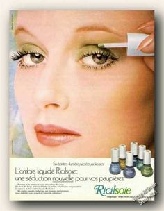 Vintage Beauty and Hygiene Ads of the (Page Vintage Makeup Ads, Vintage Nails, Retro Makeup, Vintage Beauty, Vintage Glamour, Vintage Art, Show Makeup, Eye Makeup, 1970s Makeup Tutorial