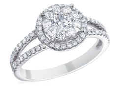 Check out this stunning Memoire Diamond Bouquets Collection Engagement Ring, available in your choice of metals!!