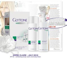 Is the cold of #winter damaging your skin?  Exfoliate  your dry arms and legs and get rid of bumps or flaky skin with #Glytone Body Retexturize KP Kit.  It's a favorite of ours and #MarieClaire