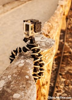 The Joby Gorillapod is our favorite DSLR and GoPro mount. It's so versatile and easy to pack! #cameragear #mounts #gear #photography
