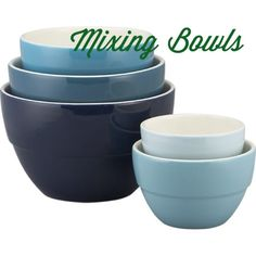 Kitchen Essentials: Colourful Mixing Bowls by @Crate and Barrel