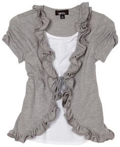 This could easily be replicated with a plain tshirt and add trim to look like a vest underneath. Lace would look lovely.
