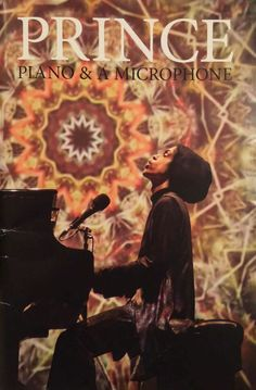 Prince A Piano and A Microphone Tourbook