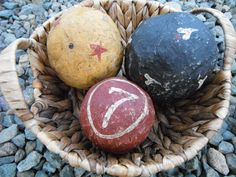 Ball Bowl Fillers Paper Mache Primitive Handmade Country Decor Shelf Setter Cottage Mantle Home Decor Accessories Primitive Rustic by TheCopperFinch on Etsy