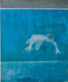 The Swimmer, c. 1961, by Paul Wonner