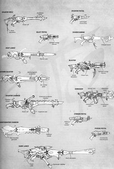 Dark Eldar Guns - Dark Eldar Codex