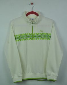 Vintage 90s Fila Small Logo Zipper Collar Nice Design Sweatshirt  e2d531a321c0b