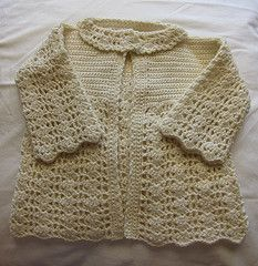 Ravelry: Lacy Crocheted Baby Outfit--Cardigan/Jacket pattern by Better Homes and Gardens