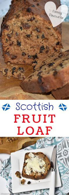 This traditional Scottish Fruit Loaf Recipe (Tea Bread) has got to be one of the easiest ever. It's a cross between bread and cake - perfect for a High Tea! Fruit Loaf Recipe, Loaf Recipes, Banana Bread Recipes, Easy Cake Recipes, Sweet Recipes, Baking Recipes, Fruit Bread, Fruit Cake Recipes, Quick Fruit Cake