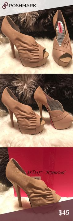Betsey Johnson nude heels 6 Gorgeous shoes by Betsey Johnson size 6.  Nude.  Never worn. Betsey Johnson Shoes Heels