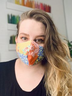 Face Mask, 100% Cotton Mask, Sustainable Organic Cotton Mask, Reusable & Washable, Double or Triple Laye Flowers Small Faces, Donate To Charity, Black Mask, Pink Patterns, Ear Loop, Fabric Design, Organic Cotton, Cotton Fabric, The 100