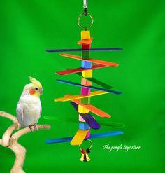 Jouets d'oiseaux de 11''  28 cm  à suspendre par TheJungleToysStore