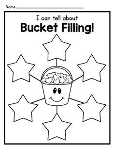 Bucket Filler Graphic Organizers and Writing Templates Bucket Filler Activities, Writing Activities, Preschool Activities, Social Emotional Activities, Math Fractions, Multiplication, Maths, Framed Words, 7th Grade Math