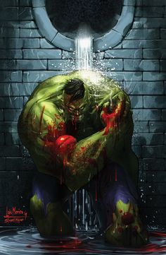 Bloody Hulk by Merinet.deviantart.com on @DeviantArt