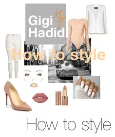 """""""6. How to style Gigi Hadid"""" by bingshoppingholic on Polyvore featuring Topshop, tarte, Christian Louboutin, Lime Crime, BCBGMAXAZRIA, Alix and Urban Decay"""