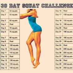 30 Day Squat Challenge. Perfect for September.