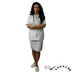Fusta alba, bleumarin, rosu CM02 - aspect elegant, confort maxim, rezistenta sporita. Destinata industriei alimentare, farmaceutice sau spitalelor, ideal pentru utilizarea de catre medici, asistente medicale in cabinete medicale , spitale, policlinici, etc. Compozitie: 65% poliester, 35% bumbac.  http://incaltamintemedicala.ro/uniforme-medicale/cm02-fusta-alba-bleumarin-rosie-leuname