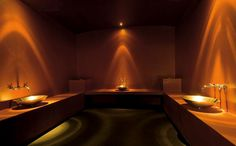 The Wellness Oasis Ski Spa in the Schwiezerhof Hotel, located in the heart of the village of Lenzerheide, is the perfect treat for sheer indulgence. Turkish Bath, Istanbul, Relax, House Design, Mirror, Bathroom, Dudler, Places, Sauna Ideas