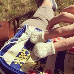 Making little feet in the sunshine  #knitting #sun #feet #boots #toys #knittedtoys #wool #yarn #saturday #brockleymarket #happy