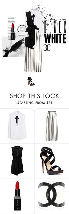 """black´n white (contest)"" by akchen ❤ liked on Polyvore featuring MANGO, Finders Keepers, SUGAR LIPS, Nine West and Smashbox"