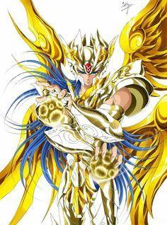 Gold Saint Gemini Saga with Divine Cloth. Saint Seiya Soul of Gold. Artwork by Spaceweaver.
