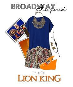 """""""Broadway Inspired: The Lion King"""" by modest-musts ❤ liked on Polyvore"""