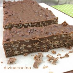 Turrón de chocolate (1tsp mantequilla)