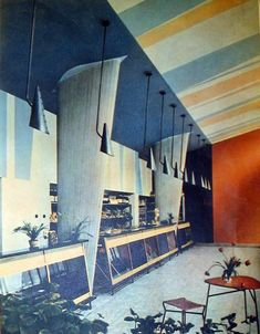 Blok Szwedzki - interior, one of the shops. Polish modernism -Nowa Huta, Kraków 1956 - 1959