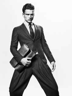 Giorgio Armani Autumn/Winter 2012 Menswear Advertising Campaign: Sophisticated Luxury Structured Inspired Modern Men's Suiting