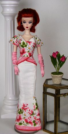Pretty in pink mermaid gown with cap sleeves and by HankieChic